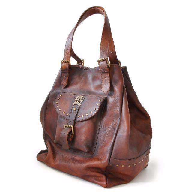 sac cabas cuir souple vintage pour femme pratesi. Black Bedroom Furniture Sets. Home Design Ideas