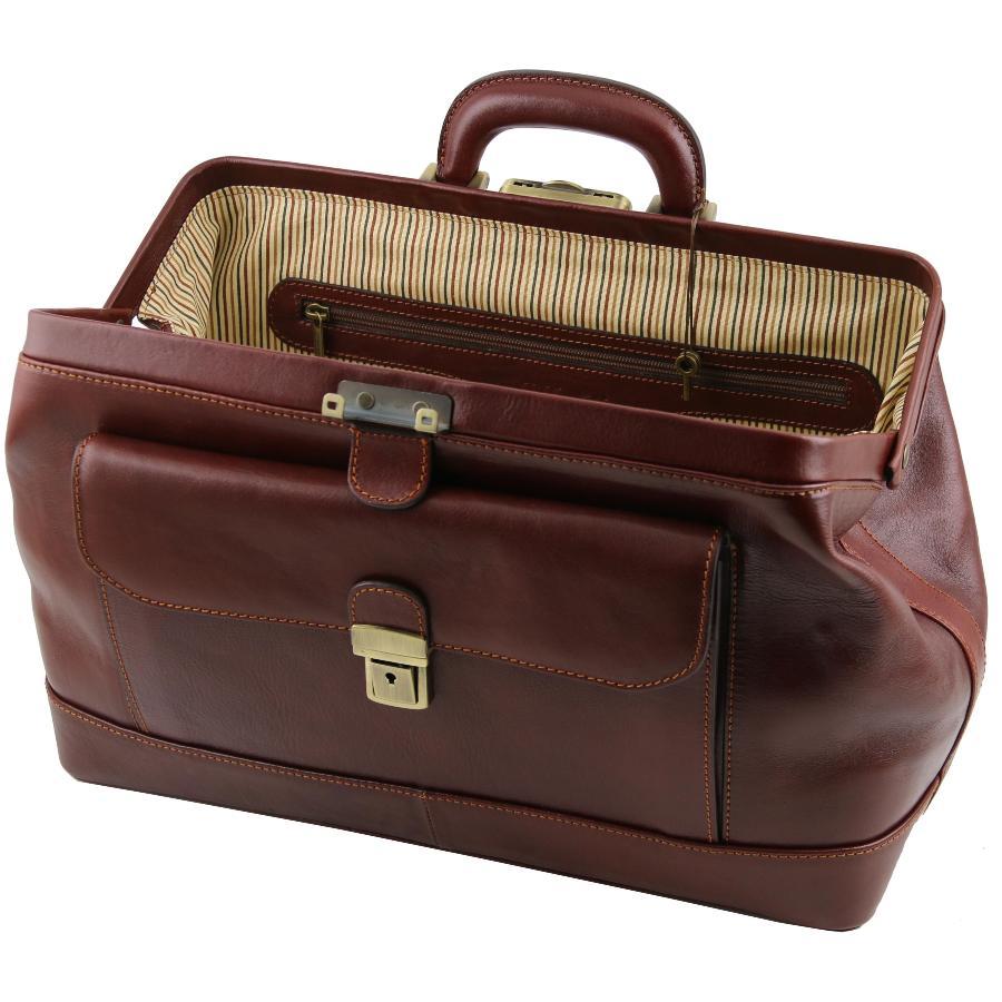 Vraie Sacoche M 233 Decin En Cuir Bernini Tuscany Leather