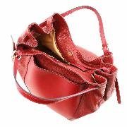 Grand Sac Besace Cuir Femme Rouge - Tuscany leather -