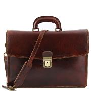 Cartable Cuir Marron Homme ou Femme -Tuscany Leather-