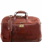 Sac de Voyage Cuir Roulettes Marron - Tuscany Leather -