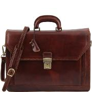 Cartable Cuir Homme Femme Marron -Tuscany Leather -
