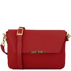 Sac Pochette Bandoulière Cuir Femme Rouge - Tuscany Leather -
