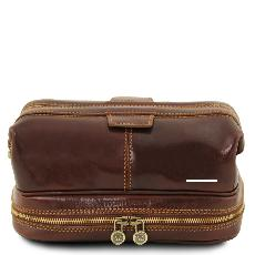 Trousse de Toilette Double Fond Cuir - Tuscany Leather -