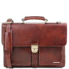 Cartable Cuir 3 Compartiments Homme - Tuscany Leather -