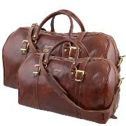 Ensemble de Voyage Cuir Marron Berlino - Tuscany Leather -
