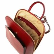 Sac à Dos Ville Cuir Femme Rouge - Tuscany Leather -