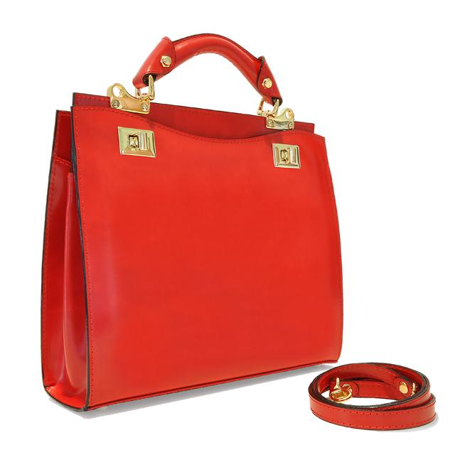 site réputé 41943 9b9b9 Sac Cuir Femme 2 Compartiments Rouge - Pratesi -