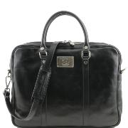 Sac Business Cuir Bandoulière Ergonomique Noir -Tuscany Leather-