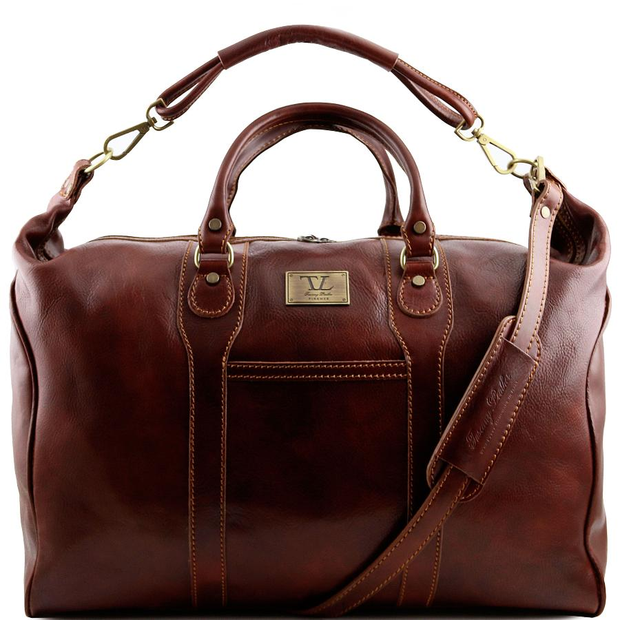 4124a90297 Grand Sac de Voyage Homme Cuir Marron -Tuscany Leather-