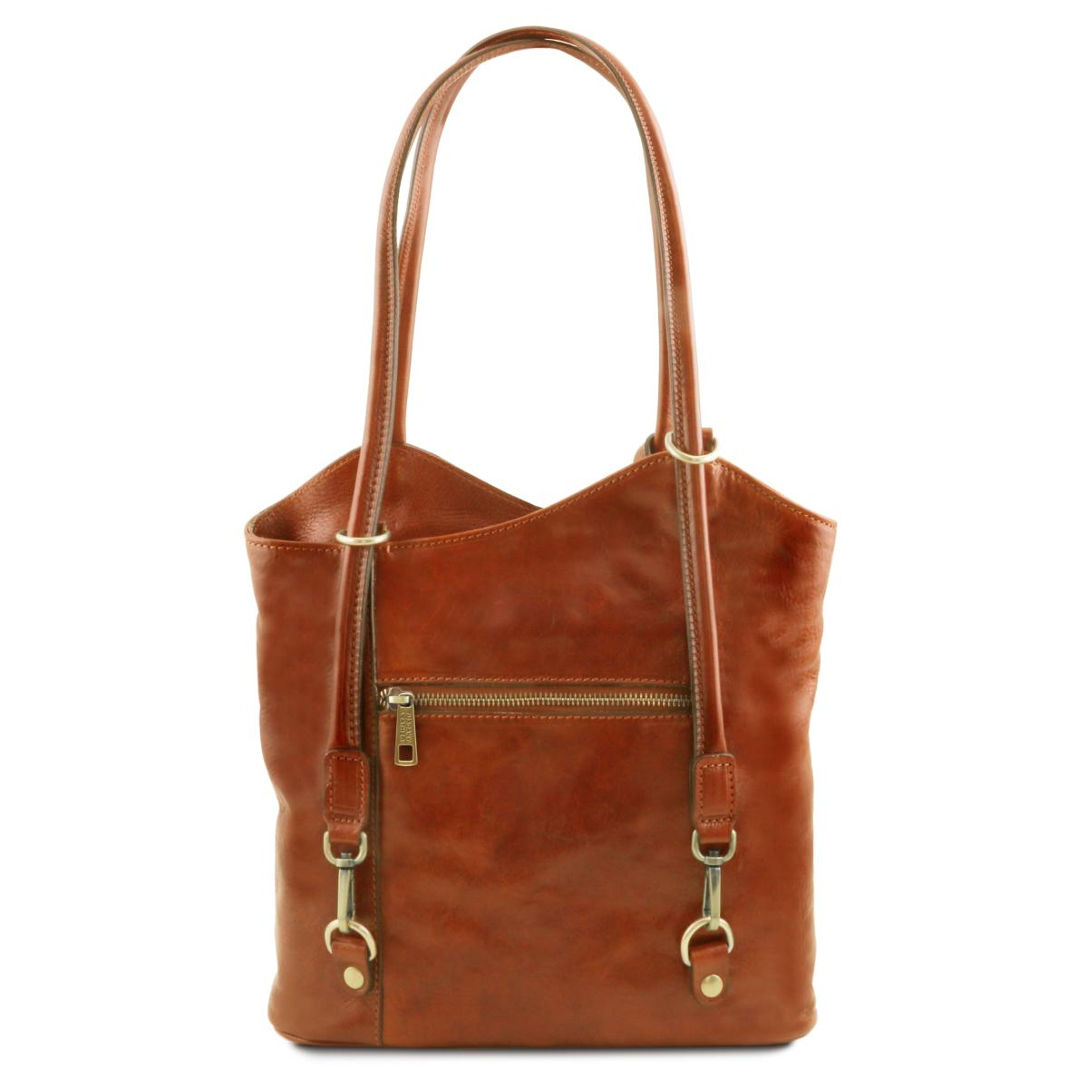Cuir Leather Dos Femme Camel Sac Tuscany En À Convertible P0knwO