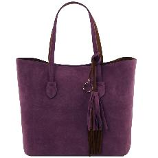 Grand Sac Shopping Daim Femme -Tuscany Leather-
