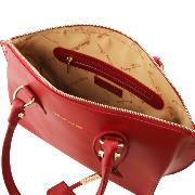 Sac Cabas Cuir Femme Rouge Ruga -Tuscany Leather-