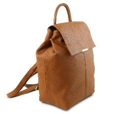 Sac à Dos Cuir Souple Femme camel - Tuscany Leather -