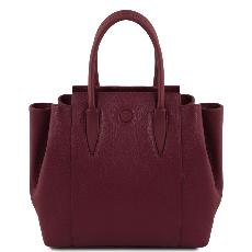 Sac à Main Cuir Souple Femme Prune - Tuscany Leather -