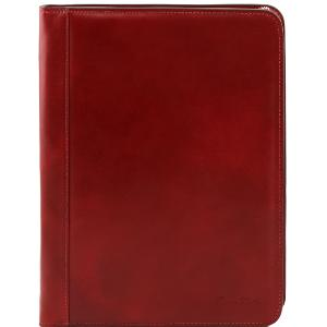 Conférencier Porte Document Extra Plat Cuir Rouge -Tuscany Leather-