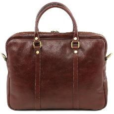 Sac Ordinateur Cuir Femme Homme Camel - Tuscany Leather -