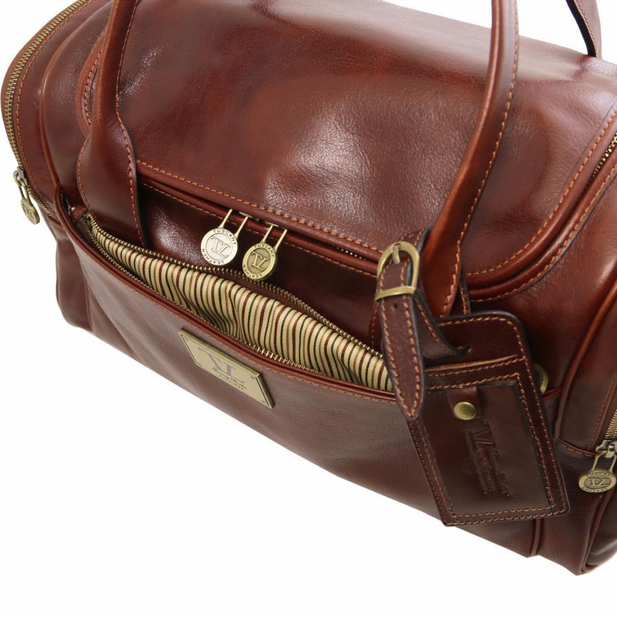Sac de Voyage Cuir Avion Marron Tuscany Leather