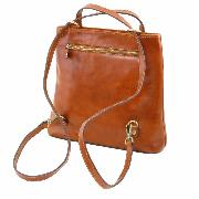 Sac Femme Cuir Convertible Sac à Dos Marron - Tuscany Leather-