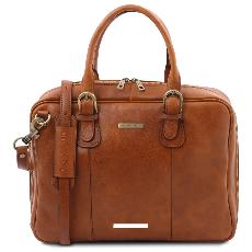 Cartable Multi Compartiments Cuir Naturel - Tuscany Leather -