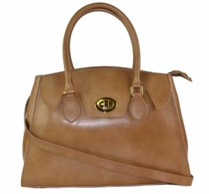 Sac Cuir Beige Femme 2 Compartiments - lucybags -