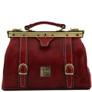 Sac Cuir Vintage Rouge Style Medecin -Tuscany Leather-