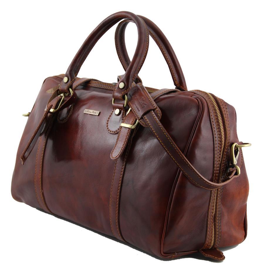 belle qualité les plus récents profiter de prix pas cher Sac de Voyage Cuir Avion Marron -Tuscany Leather-