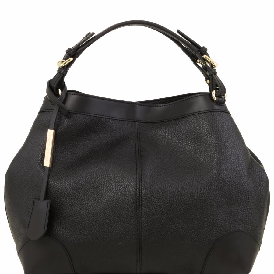 Conception innovante e6455 cd653 Sac Fourre-Tout Cuir Femme Noir - Tuscany Leather -