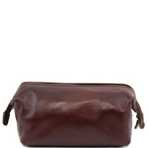 Trousse de Toilette Cuir Marron - Tuscany Leather -