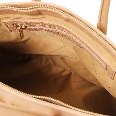 Sac Cuir Chic Femme Beige  - Tuscany Leather -