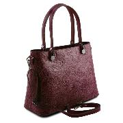 Sac Cuir Motifs Femme Atena Bordeaux -Tuscany Leather-