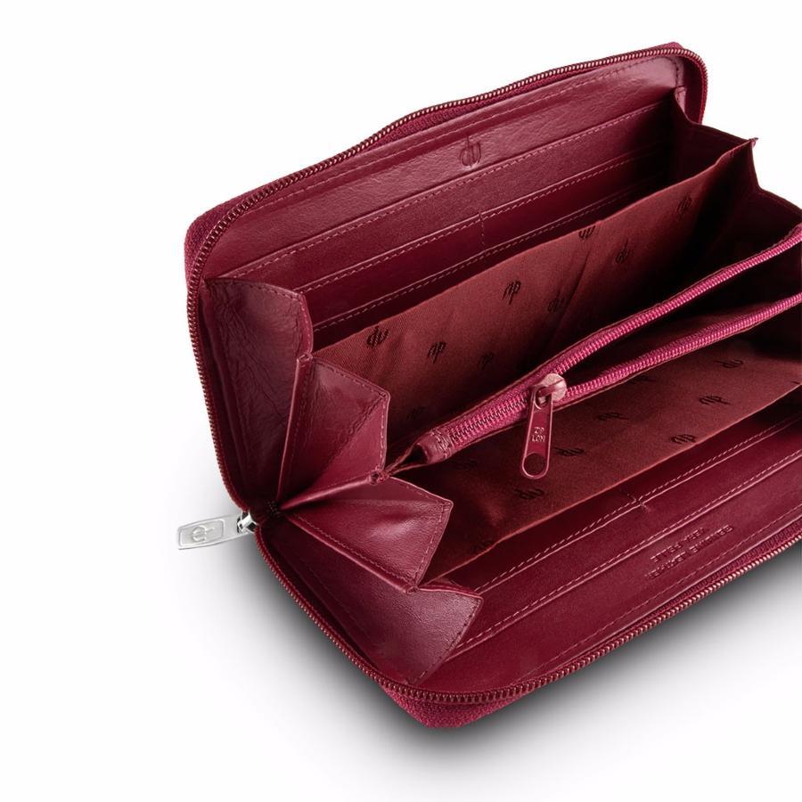 boutique pour officiel grandes marques moins cher Grand Portefeuille Cuir Femme Style Compagnon Marron -DV-