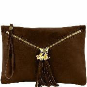 Sac Pochette Cuir Bandoulière Mode Femme  - Tuscany Leather -