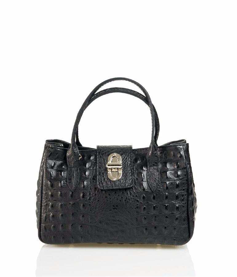 sac en cuir noir pour femme