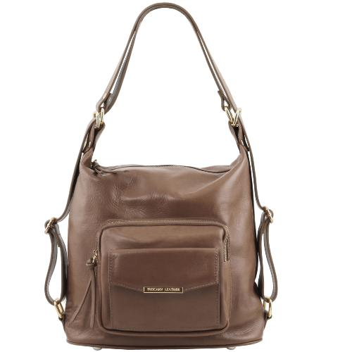 Destockage Sac Femme Cuir Transformable Sac à Dos -Tuscany Leather -