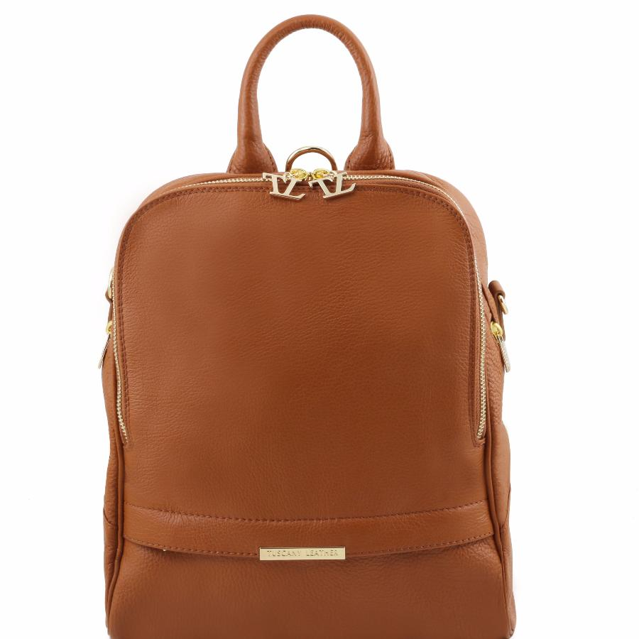 Sac 224 Dos Cuir Transformable Femme Tuscany Leather