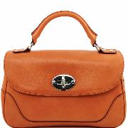 Sac a Main Cuir Femme 2 Compartiments Camel -Tuscany Leather-
