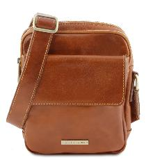 Sac Bandoulière Cuir 3 Compartiments Homme - Tuscany Leather -
