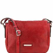 Sac Bandoulière Cuir Femme Rouge -Tuscany Leather -