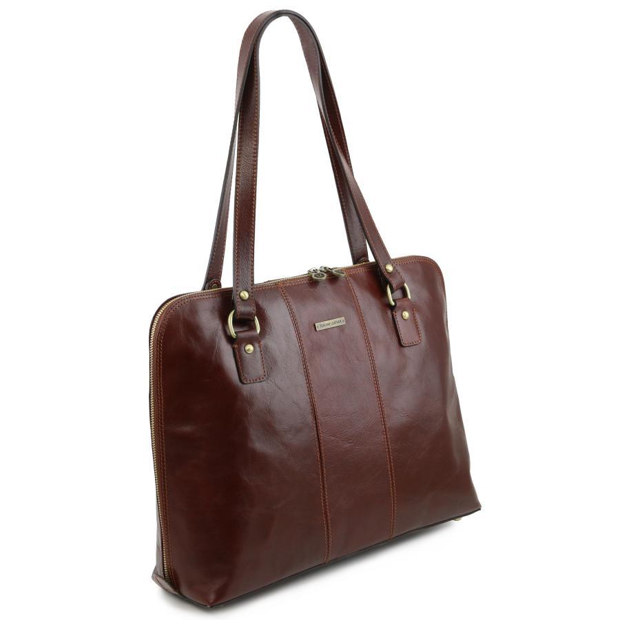 Assez Sac à Main Business Pour Ordinateur Femme Cuir -Tuscany Leather- MU62