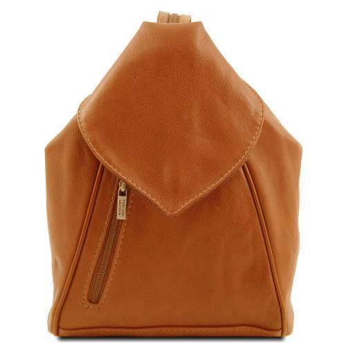 49ea17e322 Sac à Dos Cuir Souple Femme Camel - Tuscany Leather -