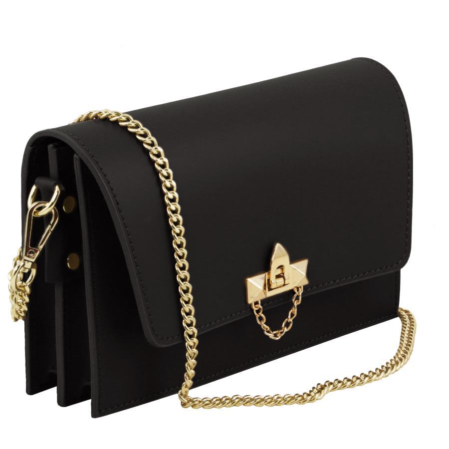 solde sac bandouli re cuir chainette femme tuscany leather. Black Bedroom Furniture Sets. Home Design Ideas