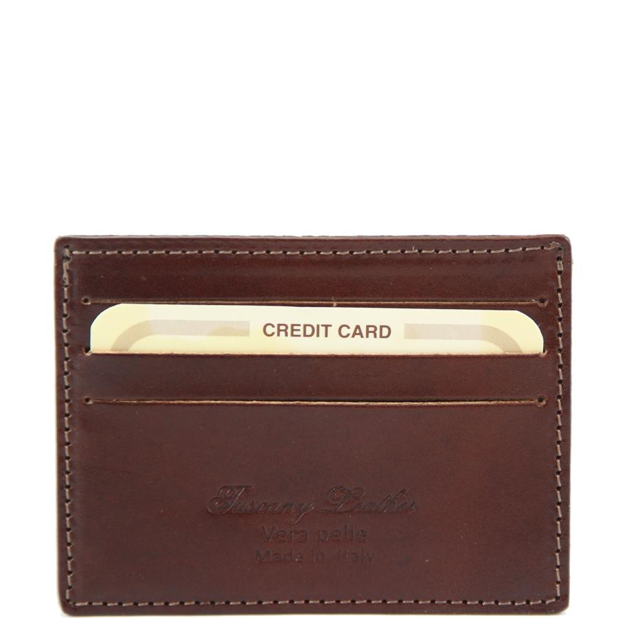 Porte cartes de cr dit en cuir marque tuscany leather for Porte carte homme