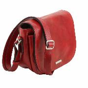 Sac Besace Casual Chic Cuir Femme  Camel - Tuscany Leather -