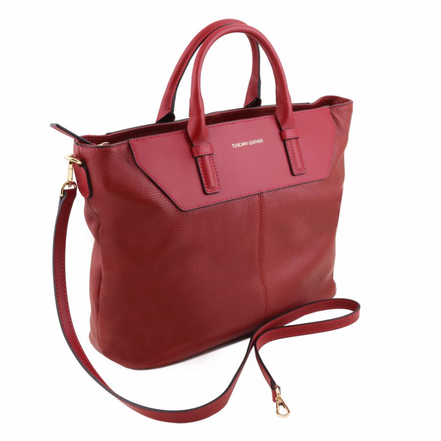 promo sac cuir souple forme sacoche femme tuscany leather. Black Bedroom Furniture Sets. Home Design Ideas