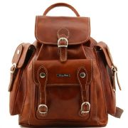 Sac a Dos Cuir Naturel Vintage Pechino- Tuscany Leather-
