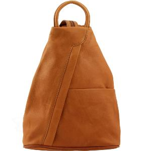 Sac à Dos Cuir Ville Femme Camel - Tuscany Leather -