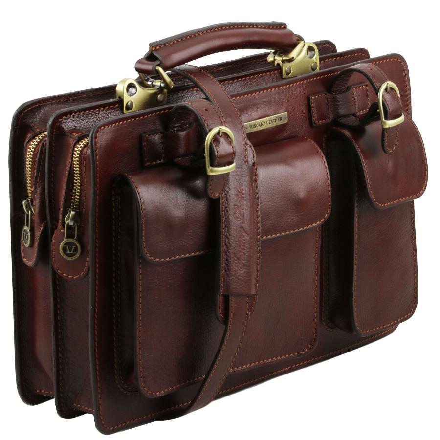 00d829ea6d Sac Cartable Cuir Femme Marron - Tuscany Leather -
