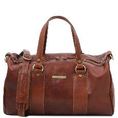 Grand Sac Cuir Souple Femme Marron - Tuscany Leather