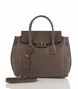 Sac Cuir Femme Gris Taupe Nouvelle Collection - First Lady Firenze -